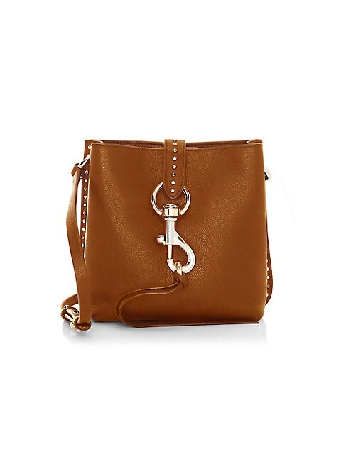 Mini Megan Studded Leather Feed Bag