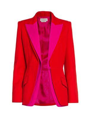Alexander Mcqueen Jackets Bi-Color Layered Blazer