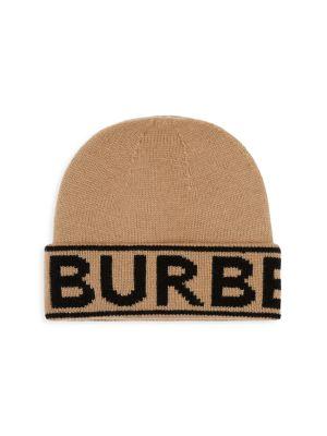 Burberry Accessories Logo Intarsia Cashmere Beanie