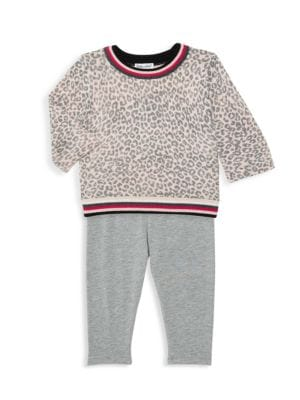 Baby Girls Skirt Tights In Pink Stripe Or Leopard Print Leopard Print, 12-18 Months