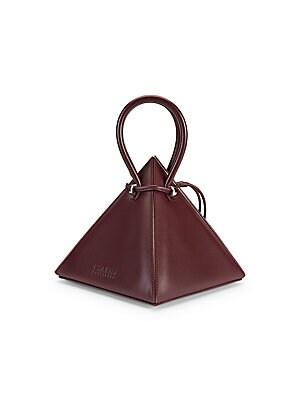 Iconics Lia Pyramid Leather Top Handle Bag by Nita Suri