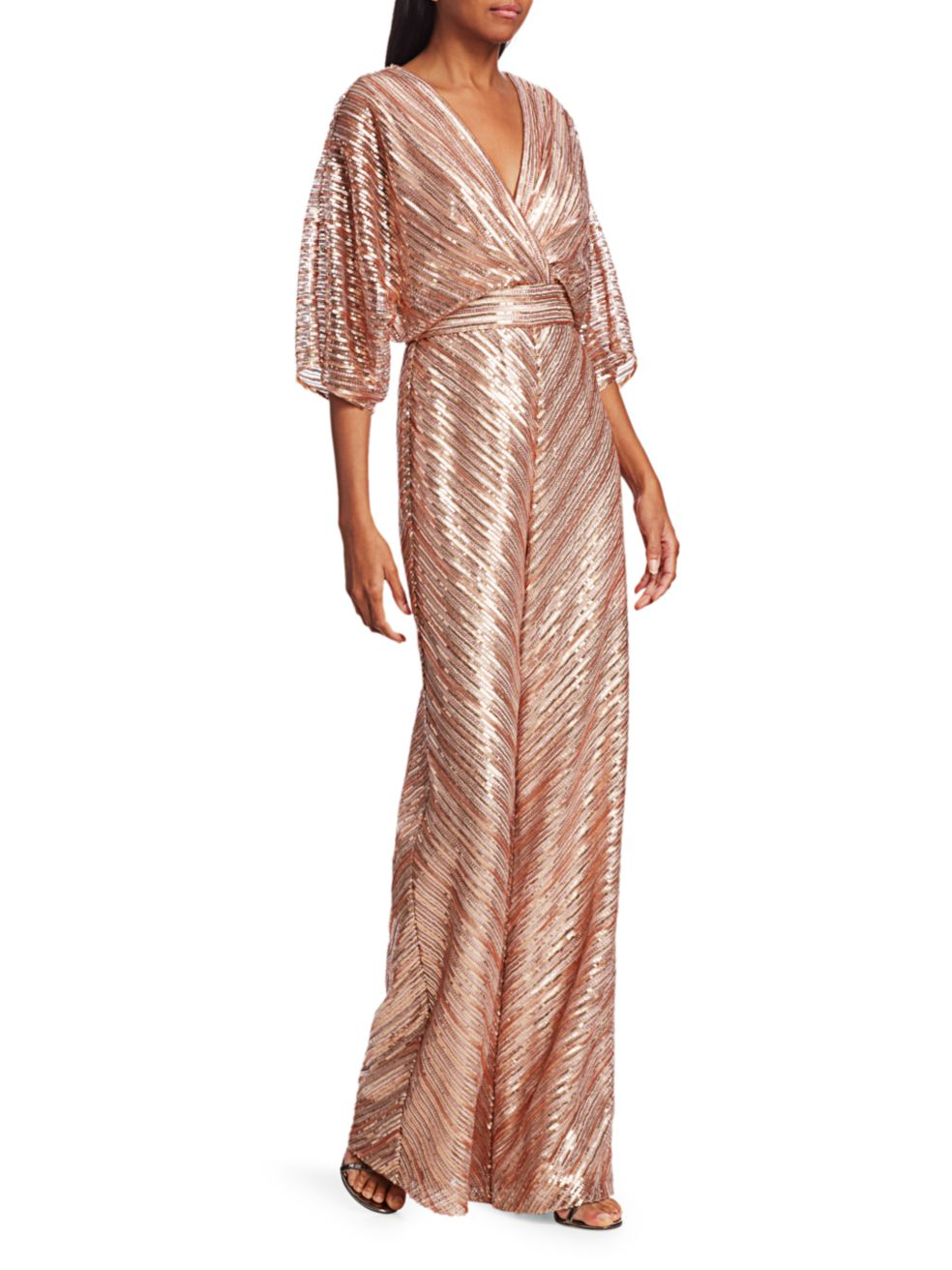 Theia Sequin Embroidered Jumpsuit | SaksFifthAvenue