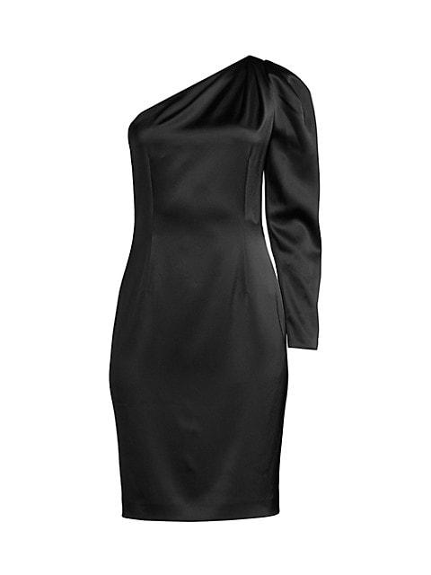 Nikita One-Shoulder Satin Dress