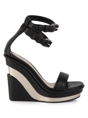 Alexander Mcqueen Platforms Platform Leather Wedge Sandals