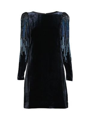 Velvet Sequin Sheath Dress