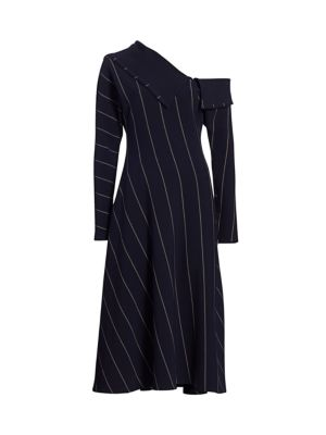 3.1 Phillip Lim Dresses Striped One-Shoulder Midi Dress