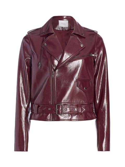 Parker Cooper Faux Leather Moto Jacket   SaksFifthAvenue