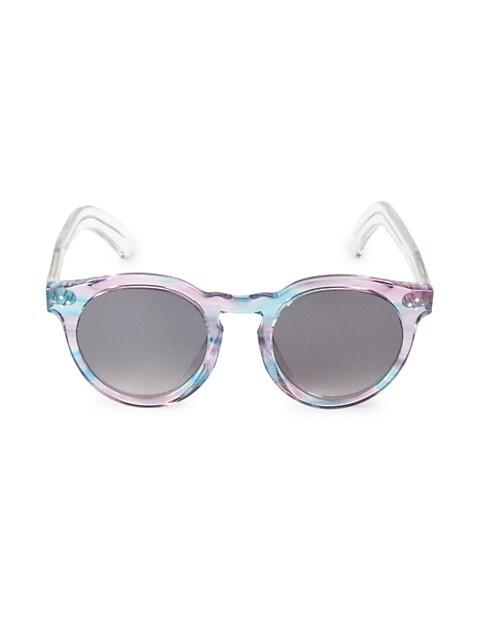 Leo II 50MM Oversized Round Sunglasses