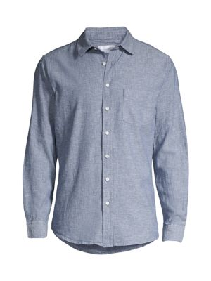 Onia Tops Abe Linen & Cotton Shirt