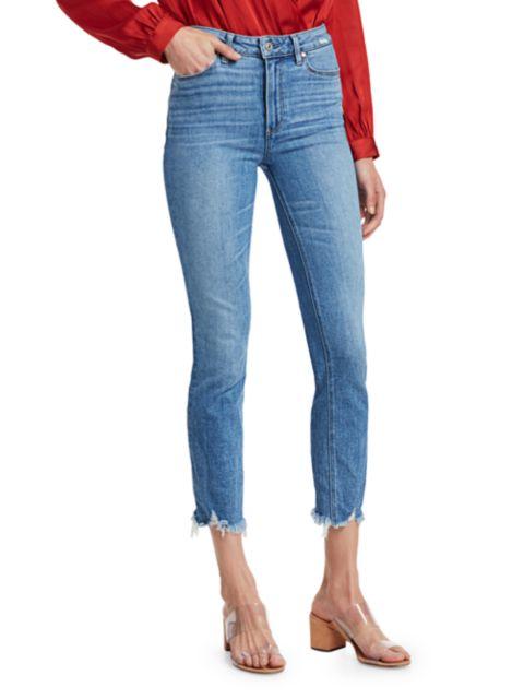 Paige Jeans Cindy High-Rise Distress Ankle Jeans   SaksFifthAvenue