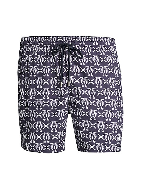 Moorea Sea Horse Print Swim Shorts