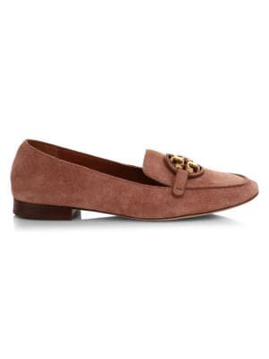 Tory Burch Loafers Miller Metal Suede Loafers