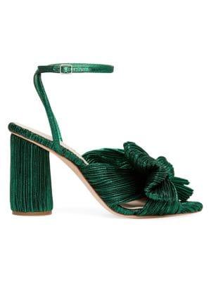 Camellia Knotted Lamé Sandals