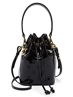 Mini Mon Tresor Patent Leather Bucket Bag by Fendi