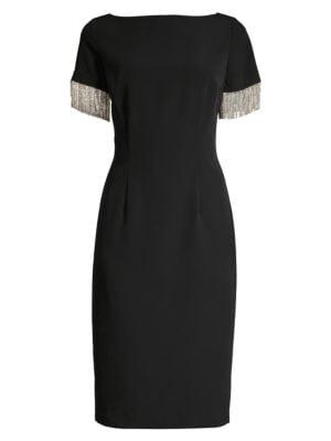 Eastern Look Hinoki Sheath Dress