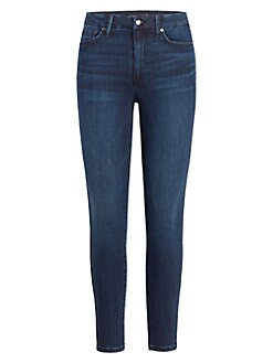 Pantaloni donna cropped-JEANS USED-look denim Donna Pantaloni KICK Flare BLU Laura Scott
