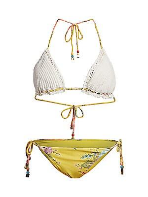 Zinnia 2 Piece Crochet Triangle Bikini Set by Zimmermann