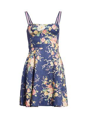 Zimmermann Dresses Zinnia Floral Linen Flare Dress