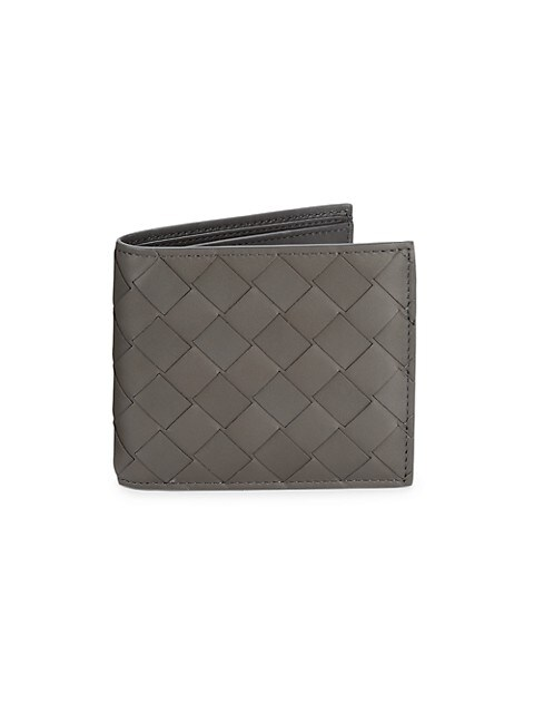 Woven Leather Billfold Wallet
