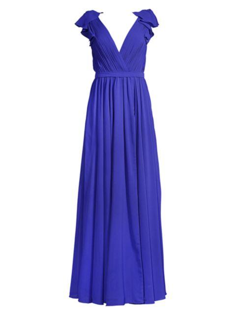 Basix Black Label Ruffled Shoulder Gown | SaksFifthAvenue