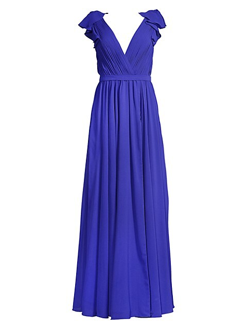 Ruffled Shoulder Gown