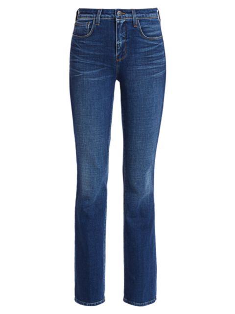 L'Agence Oriana High-Rise Straight-Leg Jeans | SaksFifthAvenue