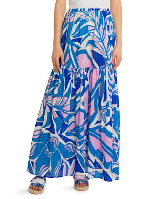Emilio Pucci Rustic Cotton Maxi Skirt   SaksFifthAvenue