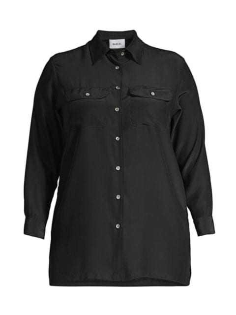 Baacal, Plus Size Taylor Silk Shirt   SaksFifthAvenue