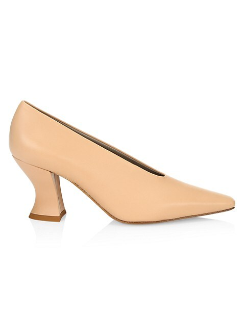 Almond Leather Pumps