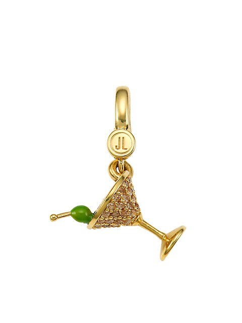 14K Goldplated Sterling Silver & Cubic Zirconia Martini Charm