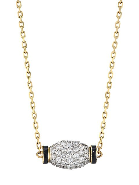 Motif 18K Yellow Gold, Diamond, & Platinum Night Cap Necklace