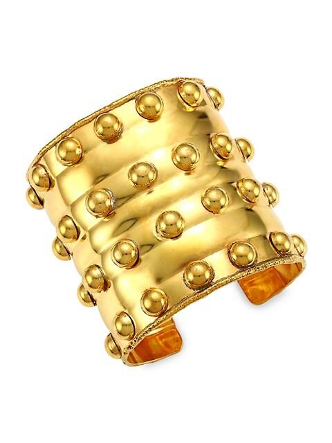 Stone Massaï III 22K Goldplated Cuff