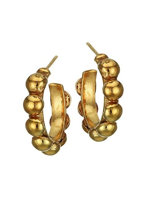 Mini Creole 22K Goldplated Hoop Earrings