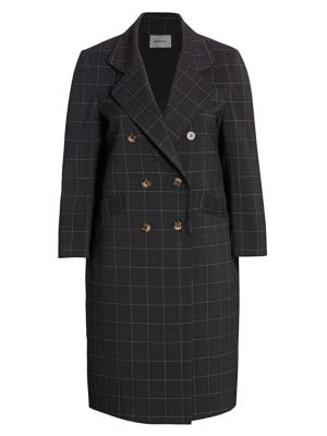 Baacal, Plus Size Carnaby Plaid Davis Double-Breasted Car Coat