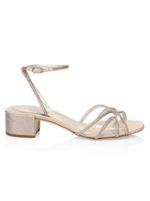 René Caovilla Sandals Crystal-Embellished Sandals