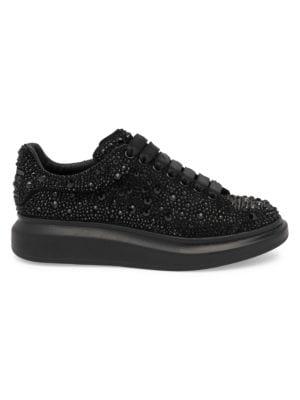 Alexander Mcqueen Platforms Crystal Embellished Tonal Platform Sneakers