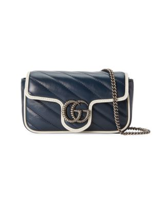 Gucci Crossbody Super Mini GG Marmont Quilted Leather Crossbody Bag