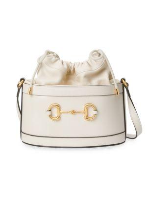 Gucci Bags Small Morsetto Horsebit Leather Bucket Bag
