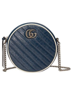 Gucci Bags GG Marmont Round Leather Mini Bag