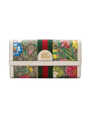Gucci Wallets Ophidia GG Flora Continental Wallet