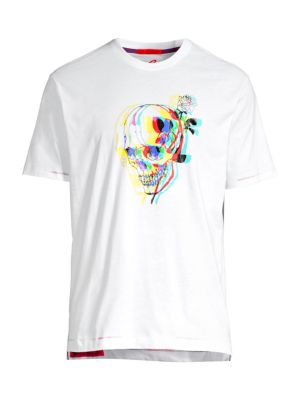 Robert Graham Tops Bewitched Multicolor Skull Graphic Tee