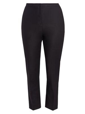 Nic + Zoe, Plus Size Women's The Perfect Pants Full Length In Black Onyx