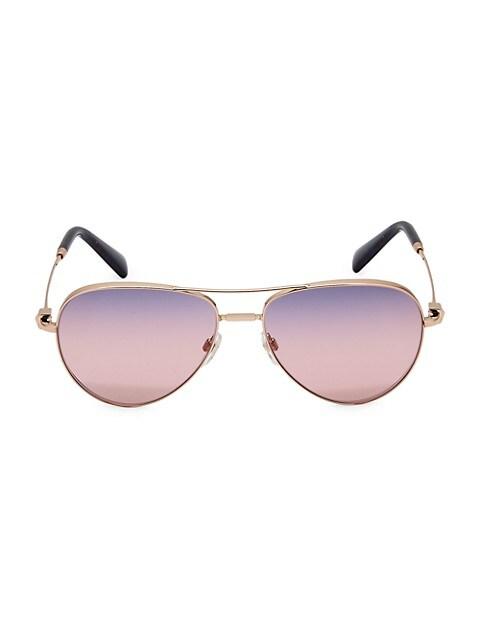 57MM Aviator Sunglasses
