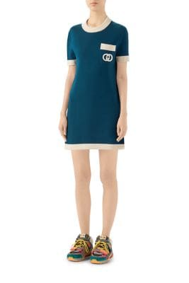 Gucci Dresses Fine Wool Stitch Sweaterdress