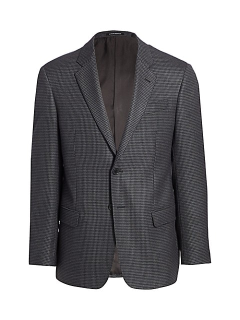 Textured Wool-Blend Stretch Sportcoat
