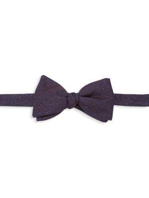 Eton Sparkly Woven Silk-Blend Bow Tie