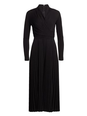 Max Mara Suits Vieste Jersey Pleat Jumpsuit