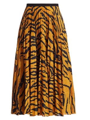 Tiger Tiger Skirt Midi Stripe Pleated Midi Stripe Skirt Pleated H2IED9