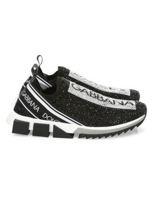 Dolce & Gabbana Sneakers Sorrento Crystal-Embellished Knit Sneakers