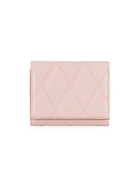 GV3 Quilted Leather Tri-Fold Wallet